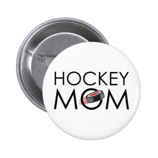 Hockey Mom 6 Cm Round Badge