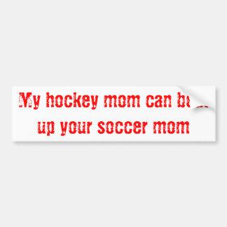 Hockey Mom Bumper Sticker