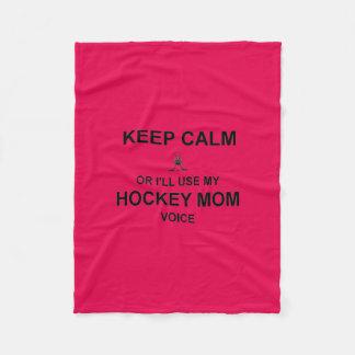 Hockey Mom- Keep Calm Fleece Blanket