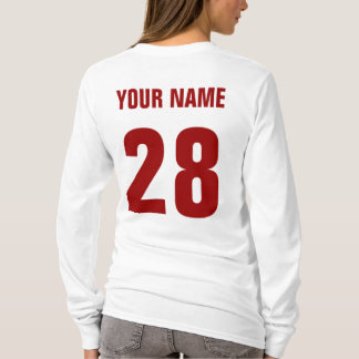 Hockey Mom Name & Number Back Print Tee
