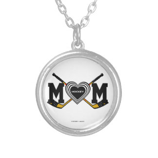 HOCKEY MOM SILVER PLATED NECKLACE