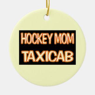 Hockey Mom Taxi Round Ceramic Decoration