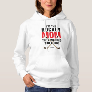 Hockey Mom They Warned You About Red Hoodie