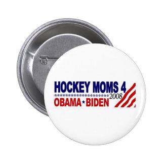 Hockey Moms for Obama Biden Pin