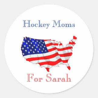 Hockey Moms For Sarah Stickers