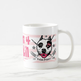 Hockey Moms Pit Bull Lipstick 2 Coffee Mugs
