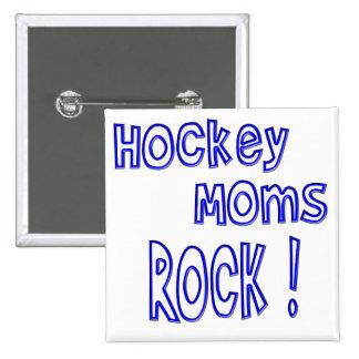 Hockey Moms Rock ! (blue) 15 Cm Square Badge