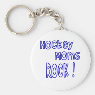 Hockey Moms Rock ! (blue) Keychains