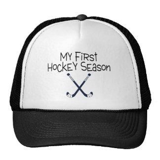 Hockey My First Hockey Season Hockey Sticks Trucker Hat