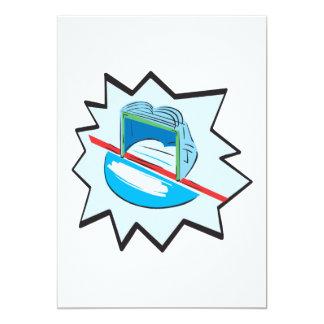 Hockey Net 13 Cm X 18 Cm Invitation Card
