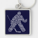 Hockey Netminder Key Chain