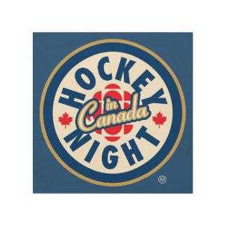 Hockey Night in Canada logo Wood Print
