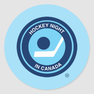 Hockey Night in Canada retro logo Round Sticker