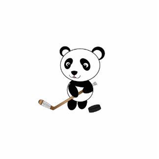 Hockey panda photo cutout
