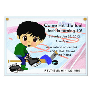 Hockey Party 13 Cm X 18 Cm Invitation Card