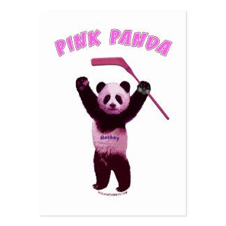 Hockey Pink Panda Bear Business Card Template