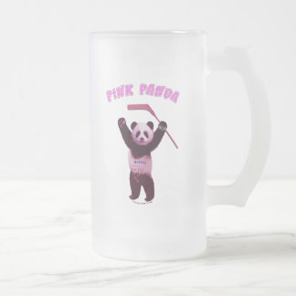 Hockey Pink Panda Bear 16 Oz Frosted Glass Beer Mug