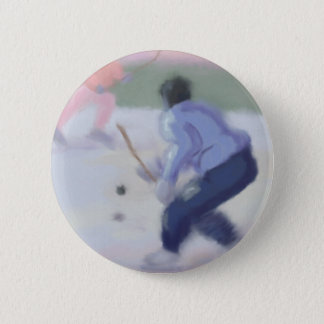 Hockey Play 6 Cm Round Badge