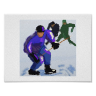 Hockey Play Art Poster