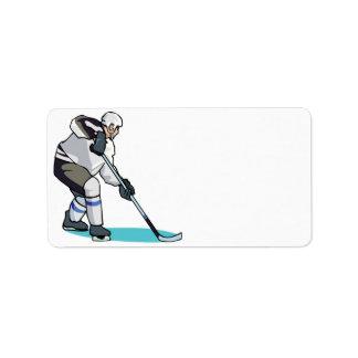 Hockey Player Address Label