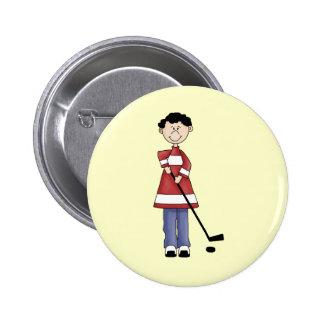 Hockey Player 6 Cm Round Badge