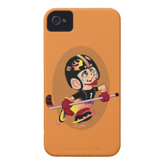HOCKEY PLAYER CARTOON iPhone 4  BT iPhone 4 Cover