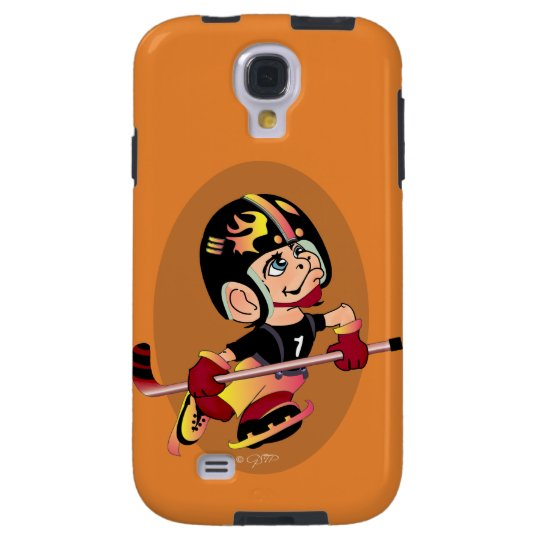 HOCKEY PLAYER CARTOON Samsung Galaxy S4  TOUGH Galaxy S4 Case