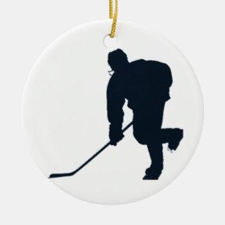 Hockey Player Christmas Ornament