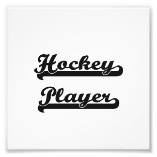 Hockey Player Classic Job Design Photograph