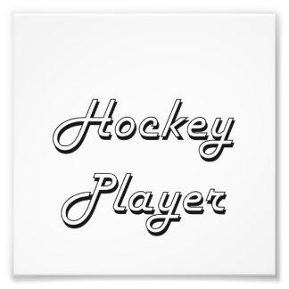Hockey Player Classic Job Design Photo Print