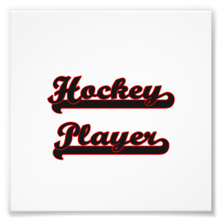 Hockey Player Classic Job Design Photographic Print