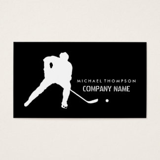 Hockey Player, Hockey Business Card