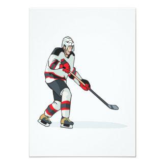 Hockey Player 13 Cm X 18 Cm Invitation Card