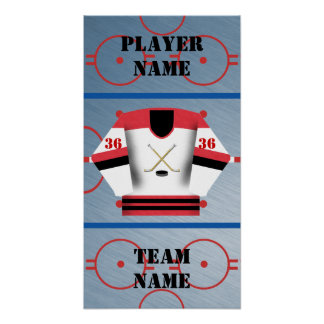 Hockey Player Jersey Poster