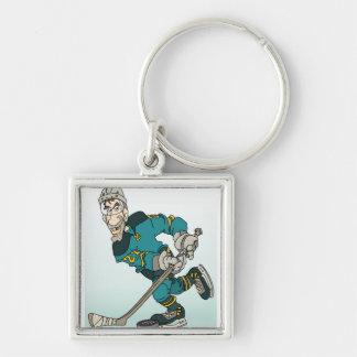 Hockey Player Key Ring