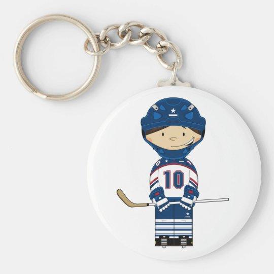 Hockey Player Keychain