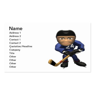Hockey Player Pack Of Standard Business Cards