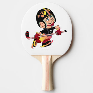 HOCKEY PLAYER Ping Pong Paddle, Black Rubber Back Ping Pong Paddle