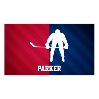 Hockey Player; Red, White, and Blue Pack Of Standard Business Cards
