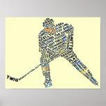 Hockey Player Typography