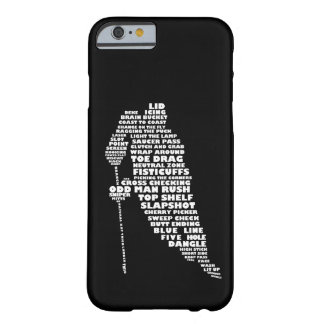 Hockey Player Typography Design iPhone 6 case Barely There iPhone 6 Case