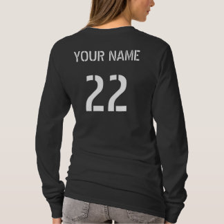 Hockey Player Typography Tee with Name & Number
