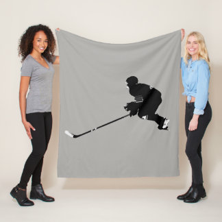 Hockey Player - Winter Sports Fleece Blanket