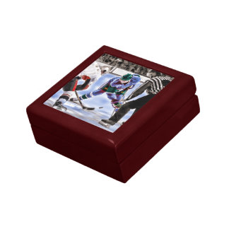 Hockey Players and Referee Face Off Gift Box