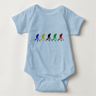 Hockey players field hockey stick and ball gifts baby bodysuit