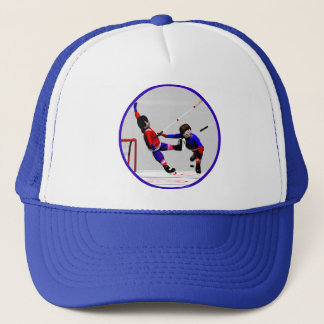 Hockey Players in Action Trucker Hat