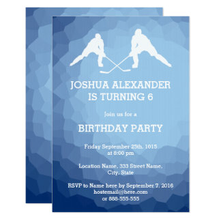 Hockey Players Party Invitation