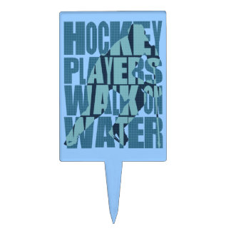 Hockey Players Walk On Water Cake Toppers