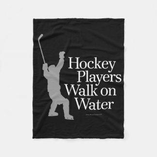 Hockey Players Walk On Water Fleece Blanket