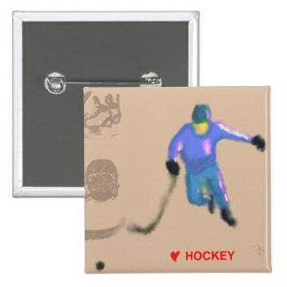 Hockey Playoff Art 15 Cm Square Badge
